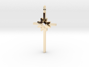Faith Pendant in 14k Gold Plated Brass