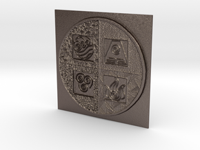 AVATAR:ELEMENTS in Polished Bronzed Silver Steel