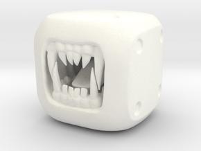 WereWolf - Monster Dice - 16mm in White Processed Versatile Plastic