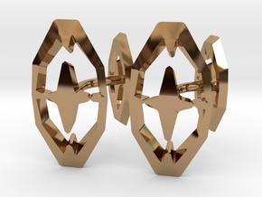 HEAD TO HEAD 44, Bend Cufflinks in Polished Brass