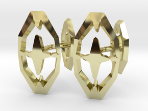 HEAD TO HEAD 44, Bend Cufflinks in 18K Gold Plated