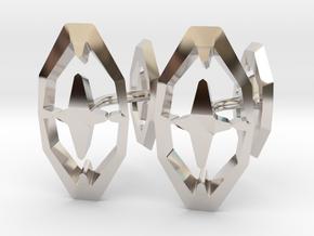 HEAD TO HEAD 44, Bend Cufflinks in Platinum
