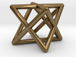 Mini-Merkaba - Rounded - 1cm in Polished Bronze