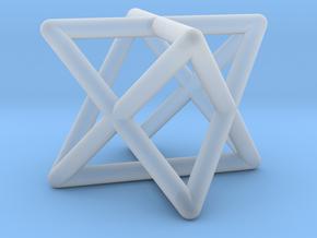 Mini-Merkaba - Rounded - 1cm in Smooth Fine Detail Plastic