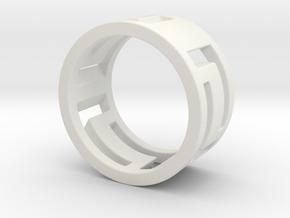 Greek Bracelet in White Natural Versatile Plastic