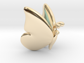 Butterfly 1 - S in 14K Yellow Gold