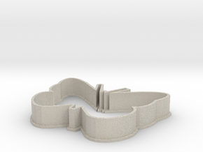 Butterfly cookie cutter in Natural Sandstone