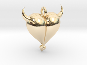 Evil Heart in 14K Yellow Gold