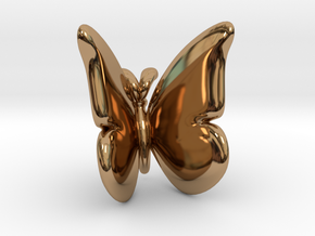 Butterfly 1 - L in Polished Brass