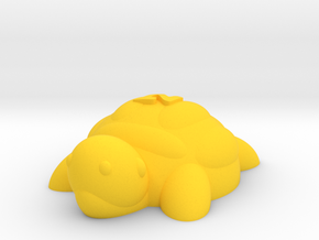 Turtle (Nikoss'Animals) in Yellow Processed Versatile Plastic