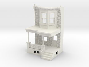 O scale WEST PHILLY ROW HOME FRONT  in White Natural Versatile Plastic