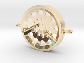 """Low Tenor """"Void"""" steelpan bracelet in 14K Yellow Gold: Small"""