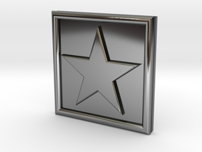 S-1-STAR in Fine Detail Polished Silver