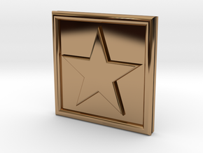 S-1-STAR in Polished Brass