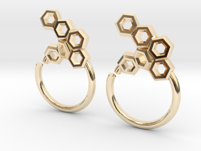 Honeycomb Seam Ring in 14K Yellow Gold