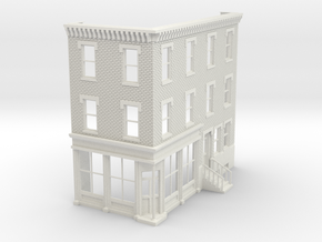 Philadelphia corner Store Front 3 stories  O scale in White Strong & Flexible
