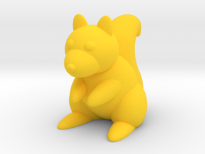 Squirrel (Nikoss'Animals) in Yellow Processed Versatile Plastic