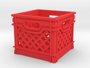 1/10 SCALE MILK CRATE in Red Strong & Flexible Polished