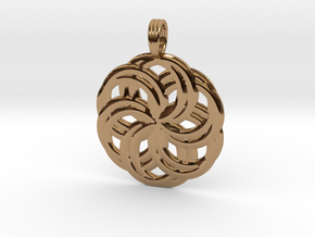 LIFE SPIRALS in Polished Brass