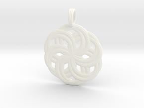 LIFE SPIRALS in White Processed Versatile Plastic