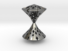 TimeLess  Pendant  in Fine Detail Polished Silver
