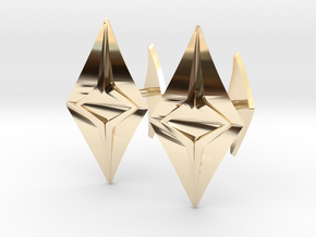 HEAD TO HEAD Fusion, Bend Cufflinks in 14K Yellow Gold