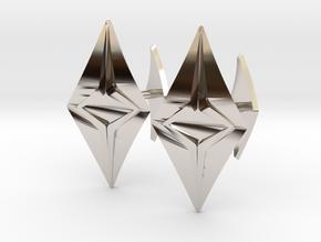 HEAD TO HEAD Fusion, Bend Cufflinks in Rhodium Plated Brass