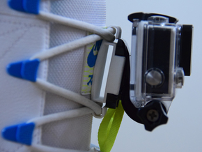 GoPro shoe mount in White Processed Versatile Plastic