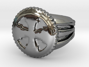 VargheimCross Ring Alfa in Fine Detail Polished Silver