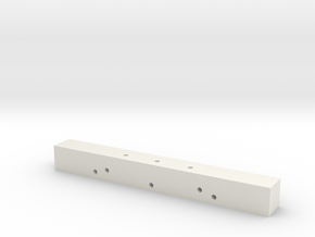 Bar in White Natural Versatile Plastic