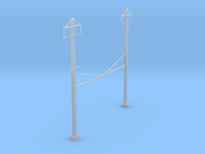 CATENARY PRR 4 TRACK 2PHASE N SCALE  in Smooth Fine Detail Plastic