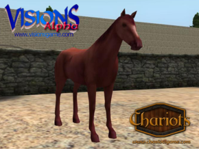 Horse Strawberry Roan in Full Color Sandstone