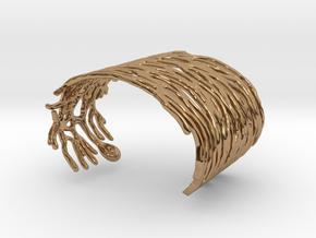 Purkinje Neuron Bracelet in Polished Brass