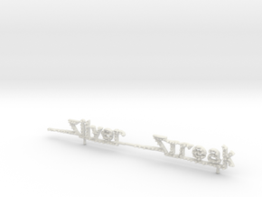 Wisdom Silver Streak Carnival Ride Sign 1/87th Ho  in White Natural Versatile Plastic