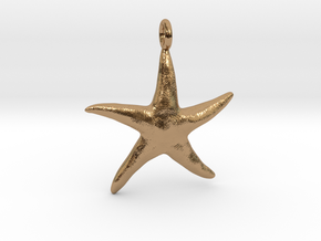 Star Fish With Ring in Polished Brass