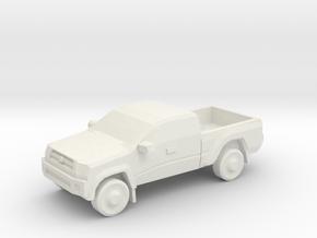 10mm (1/144) 2013 Toyota Tacoma in White Natural Versatile Plastic