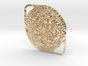 Mandala Pendant in 14k Gold Plated Brass