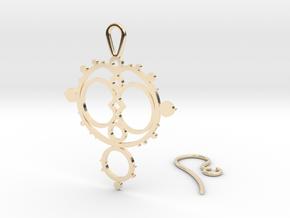 Mandelbrot Earring in 14k Gold Plated Brass