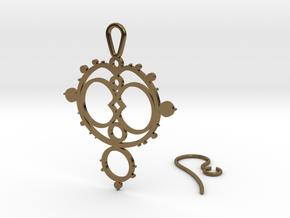 Mandelbrot Earring in Polished Bronze