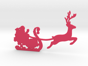 Santa Wall Decal in Pink Processed Versatile Plastic