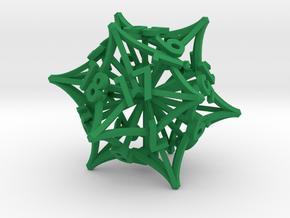 'Radial' LARGE D20 Spindown MTG Life Counter Die in Green Processed Versatile Plastic