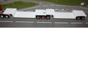 108+109 USA B Double Trailer HO 1:87 in White Strong & Flexible