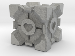 Companion Cube  in Metallic Plastic