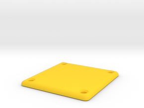 Tracker Couvercle Boitier in Yellow Processed Versatile Plastic