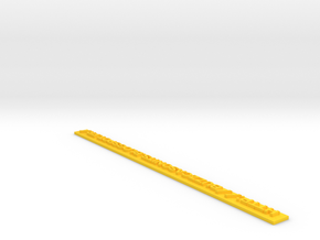 Tracker Lettrage 3 in Yellow Processed Versatile Plastic