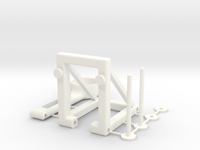 Rubber-band catapult in White Processed Versatile Plastic