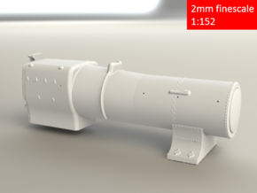 3700 City Class boiler, smokebox, firebox, 2mm FS in Smoothest Fine Detail Plastic