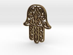 Hamsa Pendant in Polished Bronze