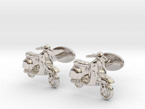 Vespa Cufflinks. in Rhodium Plated Brass
