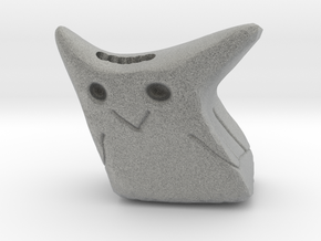 Abstract Owl Statue in Metallic Plastic